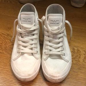 rag and bone white high top sneaker size 37.5